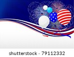 fourth of july banner | Shutterstock .eps vector #79112332