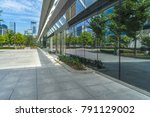 buildings and clean road... | Shutterstock . vector #791129002