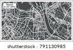 hanoi vietnam city map in retro ...   Shutterstock . vector #791130985