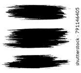 grunge ink brush strokes.... | Shutterstock .eps vector #791146405