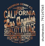 typo tee print design with... | Shutterstock .eps vector #791147065