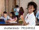 successful african american... | Shutterstock . vector #791149312