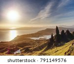 morning view of old man of... | Shutterstock . vector #791149576