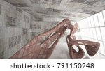 empty smooth abstract room... | Shutterstock . vector #791150248