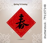 chinese new year theme elements ... | Shutterstock .eps vector #791157148