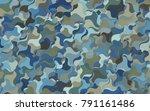 light blue  red vector blurry... | Shutterstock .eps vector #791161486
