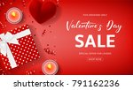 red promo web banner for... | Shutterstock .eps vector #791162236