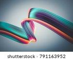 3d render abstract background.... | Shutterstock . vector #791163952