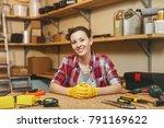 beautiful smiling caucasian... | Shutterstock . vector #791169622