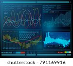 data analysis  visualization... | Shutterstock .eps vector #791169916