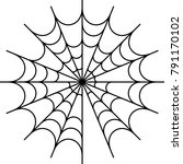 spider web icon design raster... | Shutterstock . vector #791170102