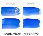 vector blue paint smear stroke... | Shutterstock .eps vector #791170792