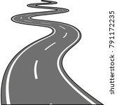 asphalt road isolated on white...   Shutterstock .eps vector #791172235