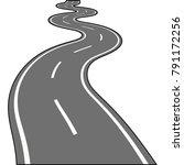 asphalt road isolated on white... | Shutterstock .eps vector #791172256