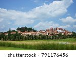 the village is italy style... | Shutterstock . vector #791176456