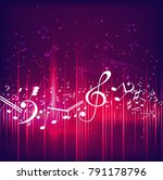 colorful music background | Shutterstock . vector #791178796