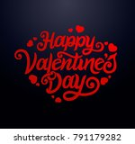 happy valentines day typography ... | Shutterstock .eps vector #791179282