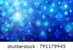 blue abstract poker pattern of... | Shutterstock . vector #791179945