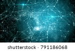 blue and green fantasy abstract ... | Shutterstock . vector #791186068