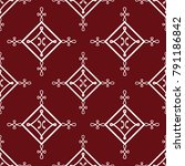 interlaced lines. vector... | Shutterstock .eps vector #791186842