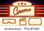 vintage cinema sign. signboard... | Shutterstock .eps vector #791187682