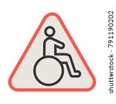 handicapped zone icon | Shutterstock .eps vector #791190202