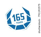 165 years design template.... | Shutterstock .eps vector #791192575