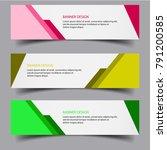 horizontal banner background... | Shutterstock .eps vector #791200585