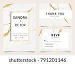 marble wedding invitations set  ...   Shutterstock .eps vector #791201146