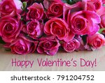 happy valentines day.bouquet of ... | Shutterstock . vector #791204752
