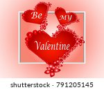 valentine's day background with ... | Shutterstock . vector #791205145