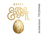 easter card with realistic... | Shutterstock .eps vector #791205466