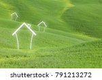 eco friendly concept home... | Shutterstock . vector #791213272