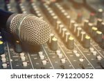 wireless microphone on the... | Shutterstock . vector #791220052