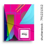 cover design template with...   Shutterstock .eps vector #791221312