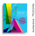 cover design template with...   Shutterstock .eps vector #791221456