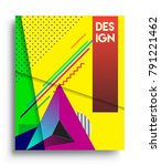 cover design template with...   Shutterstock .eps vector #791221462