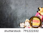 korea traditional cookies on... | Shutterstock . vector #791222332