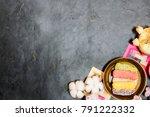 korea traditional cookies on... | Shutterstock . vector #791222332