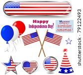 independence day. collection of ... | Shutterstock .eps vector #79122493