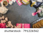 korea traditional object on the ...   Shutterstock . vector #791226562