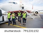 confident ground crew walking...   Shutterstock . vector #791231152