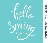 hello spring hand drawn... | Shutterstock .eps vector #791239186