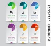 infographics banners template... | Shutterstock .eps vector #791243725