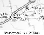 Small photo of Fallon. Montana on a map.