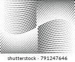 abstract halftone wave dotted... | Shutterstock .eps vector #791247646