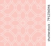 seamless vector pink and white... | Shutterstock .eps vector #791256046