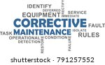 a word cloud of corrective...   Shutterstock .eps vector #791257552