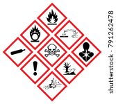 warning symbol hazard icons ghs ... | Shutterstock .eps vector #791262478