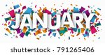 colored confetti with text... | Shutterstock .eps vector #791265406